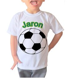 d5b5c83906c Items similar to Personalized soccer ball design with your child's name-  VB064 on Etsy. Kid NamesBirthday ShirtsSoccer ...