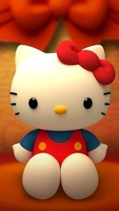 cartoon, hello kitty, and red image