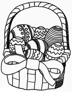 Coloring Pages Easter Eggs Basket