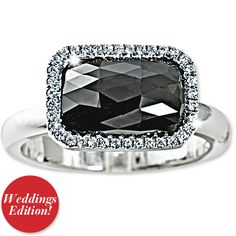 Suzanne Felsen Black & White Engagement Ring
