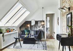 Una #mansarda in stile newyorkese arredata con pezzi vintage danesi degli anni 50 e mobili di riciclo. http://www.mansarda.it/arredare/come-arredare-una-mansarda-in-stile-vintage/