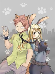 Nalu Holy fuck is this a Fairytail/Zootopia crossover? Zootopia nalu Collab with Fairy Tail Nalu, Fairy Tail Ships, Fairy Tail Amour, Art Fairy Tail, Image Fairy Tail, Fairy Tail Natsu And Lucy, Fairy Tale Anime, Fairy Tail Guild, Fairy Tales