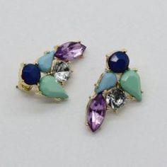 Bohemian Gem & Rhinestone Earrings