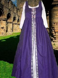 Renaissance Overgown Medieval SCA Garb Purple by CamelotsClosets 48.00