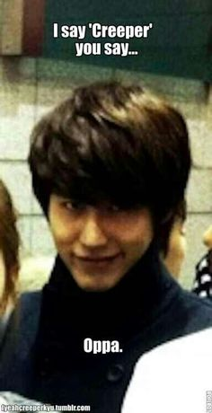 KyuHyun.   My sister can do this look. It creeps me out.....  -Anna chen