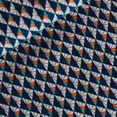 Stoff geometrisch: Diamond - dunkelblau,  weicher Stoff aus gekämmter Baumwolle, Popeline von rauffaser auf Etsy