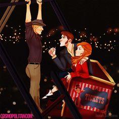 Isaiah Stephens - Personagens da Disney em cenas do filme Diário de Uma Paixão.