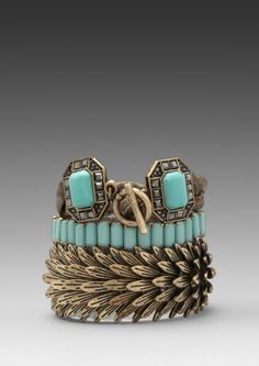 Samantha Wills Beautiful Nightmare Bracelet Set in Turquoise in Brown (Turquoise) - Lyst