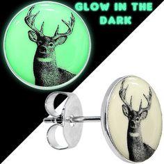 Glow in the Dark Deer Buck Ohrstecker - Kiely - # Glow in the Dark Deer Buck Ohrstecker - Kiely - . The Facial Piercing facepiercingtrd Facial Piercing Glow in the Dark Deer Bu Cartilage Earrings, Stud Earrings, Facial Piercings, Halloween Jewelry, Peircings, Body Jewelry, Beaded Jewelry, Deer, Glow