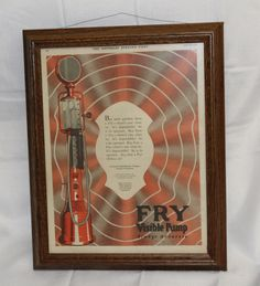 FRY Visible Gas Pump Full Page Advertisement from Saturday Evening Post 1925 Full Color Frames by BITDClassics on Etsy