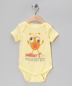 Take a look at this Banana 'Mommy's Little Monster' Bodysuit - Infant on zulily today!