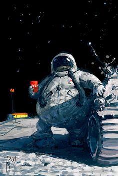 「THE ASTRONAUT illust」的圖片搜尋結果