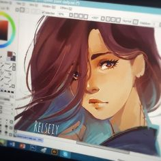 Another digital sketch, the eyes turned out well but i dont like the full version so here is a shot of just the face. I used to do these laptop screen shots sooo much in my account before. I was gonna post this on my story but kinda liked it so ill keep it here might delete later.