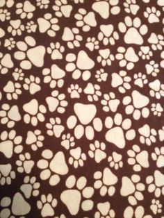 New print just received---Snuggle Flannel FabricAnimal Paw Print quilting and sewing fabric-by flyingdollar, $6.59
