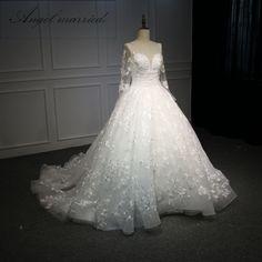 4b62e62bcab3  Only  460.00  Fashion A-line Wedding dresses vestido de noiva Appliques  with Beading