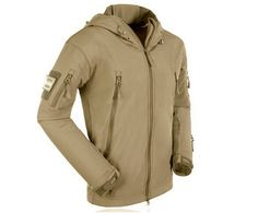 Fashion Men Outdoor Soft Shell Wind Mountain Parka Fleece Jacket - US$32.99