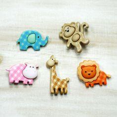 Düğme, sevimli hayvanlar