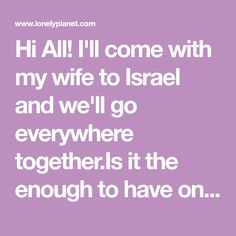 I'll come with my wife to Israel and we'll go everywhere together.Is it the enough to have only 1 Rav Kav card (with enough money on it)… Light Rail, Train Tickets, Bus Driver, Lonely Planet, Israel, Money, Silver