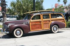 Beach Bound.... Classic Trucks, Classic Cars, Woody Wagon, Busses, Vintage Trailers, Car Wheels, Station Wagon, Real Wood, Pickup Trucks