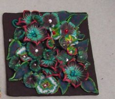 FIMO 50 World project tile from Orange County Polymer Clay Guild, USA
