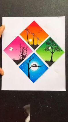 Oil Pastel Art, Oil Pastel Drawings, Art Drawings Sketches Simple, Oil Pastels, Oil Pastel Paintings, Face Paintings, Colorful Drawings, Small Easy Drawings, Oil Pastel Crayons