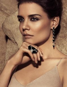 Katie Holmes was shot by Tom Munro in Studio 1 for H.Stern Jewelers at Milk Studios | New York