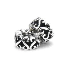Set of 2 - Bella Fascini Silver Swirl European Charm Bracelet Beads - Threaded Band Spacers - Solid Sterling Silver - A Perfect Fit for Chamilia, Moress, Pandora and Other Compatible Brands Bella Fascini Beads,http://www.amazon.com/dp/B005TVOQJG/ref=cm_sw_r_pi_dp_G0V3rb183KF7ZMR5