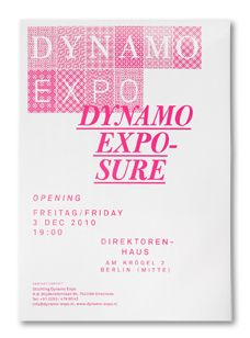 Dynamo Expo collateral by Studio Laucke Siebein