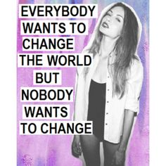 nothing changes if no one changes.