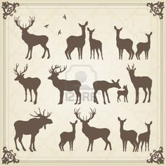 Deer Silhouette Cliparts, Stock Vector And Royalty Free Deer Silhouette Illustrations