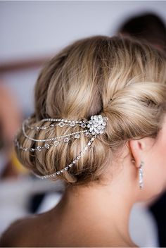 Another way to wear jewelry during your wedding day. | Photographed by Rebecca Marie | Chicago Wedding
