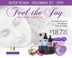 Enter for a chance to win an Athena's prize pack worth over $187. You could win this exciting assortment. Share the contest and get bonus entries.