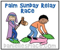 Donkey Relay Race fro Palm Sunday from www.daniellesplace.com