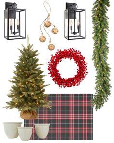 Cabin Christmas, Whimsical Christmas, Elegant Christmas, Plaid Christmas, Vintage Christmas, Christmas Wreaths, Christmas Decorations, Holiday Decor, Porch Trees