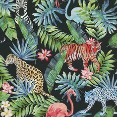 Dutch Collage Jungle behang 42500-20