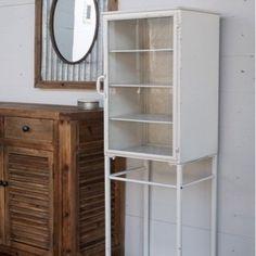Metal Vintage Nurse's Cabinet- perfect cabinet for in-between pedestal sinks