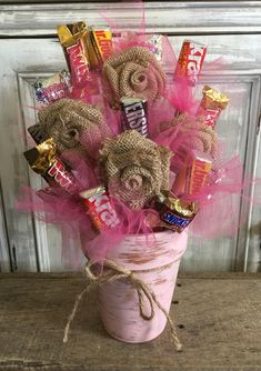 Gift Card Bouquet, Candy Bouquet Diy, Money Bouquet, Candy Boquets, Candy Arrangements, Candy Centerpieces, Candy Flowers, Birthday Bouquet, Birthday Candy
