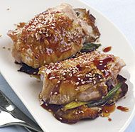 Orange and Soy Glazed Chicken Thighs