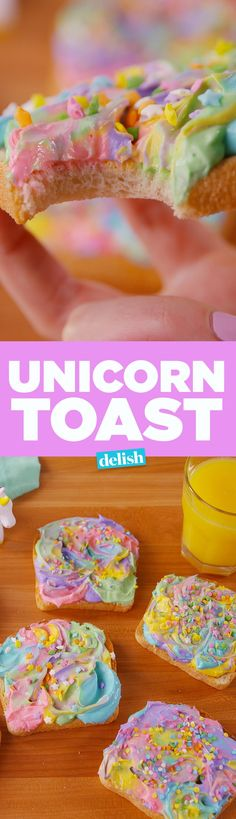 People are freaking out over Unicorn Toast. Get the recipe on http://Delish.com.