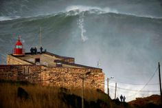 Big Wave Surfing in Nazare, Portugal - surfer Garrett McNamara rides world record wave in Portugal. - I have to visit Portugal! No Wave, Large Waves, Big Waves, Surf Mar, Foto Magazine, Time Magazine, Wall Of Water, Giant Waves, Places