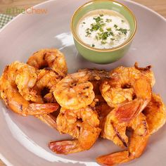Buffalo Grilled Shrimp with Goat Cheese Dipping Sauce by Giada de Laurentiis. #TheChew
