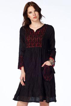 Otantik Simirna Elbise - Siyah