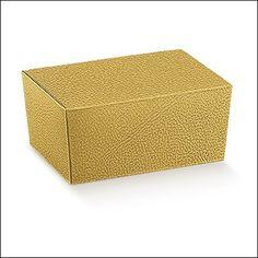 Ballotin, Ballottin Pralinenschachtel 103x67x45 mm Gold 20  Stück