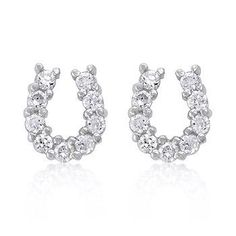 Lucky Horseshoe Earring Set