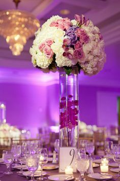 Purples and Pinks!! Lighting in the room makes a huge difference in order to bring out the flowers!!! love it!