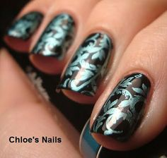 This girl is awesome. Great ideas and great nail artist in general. Here's her blog, Chloe's Nails