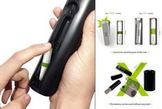 Dual Size Battery with Changeable AA and AAA Size