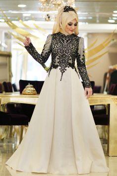 Robe Nisan Noire Plus Muslim Women Fashion, Arab Fashion, Islamic Fashion, Modest Fashion, Fashion Outfits, Muslimah Wedding Dress, Muslim Wedding Dresses, Muslim Dress, Beautiful Maxi Dresses
