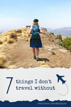 There are 7 simple things I never travel without and you shouldn't either! Whether you are taking an international flight, or roadtripping for a week- Don't leave essentials behind - put them on your packing list! Road Trip Packing List, Travel List, Travel Packing, Travel Guides, Packing Tips, Road Trips, Travel Through Europe, Whitewater Rafting, Wanderlust