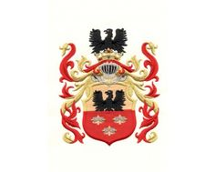Herb rodowy/herb szlachecki SULIMA - coat of arms - AHA STUDIO Pracownia Haftu Artystycznego | HAFT ARTYSTYCZNY -HERBY, SZTANDARY, PROPORCZYKI  cena 250 zł.   ZAMÓW